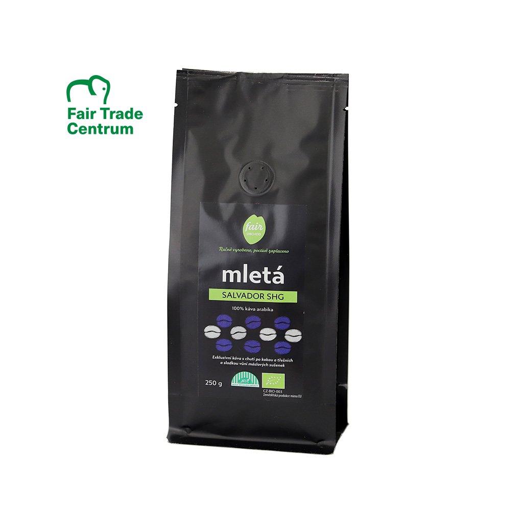 Fair trade bio mletá káva Salvador SHG, 250 g