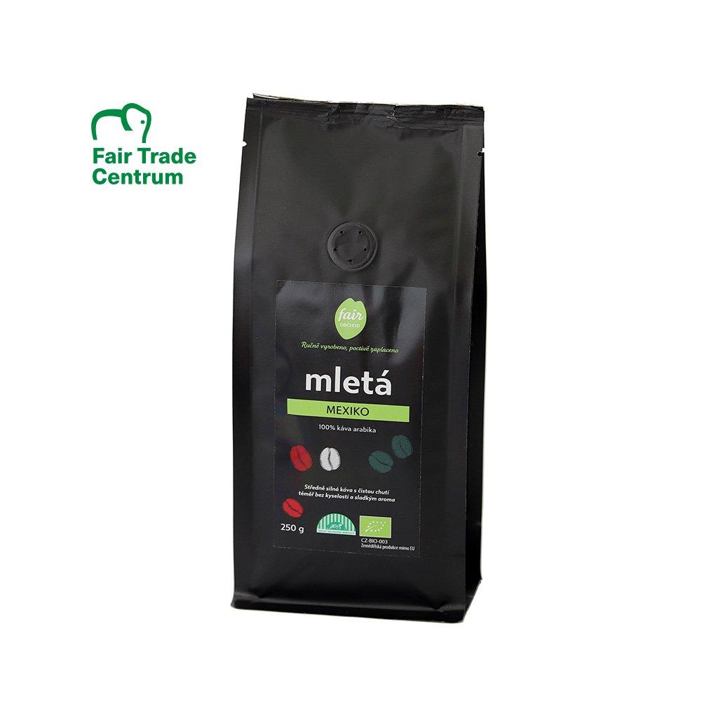 Fair trade bio mletá káva Mexiko, 250 g