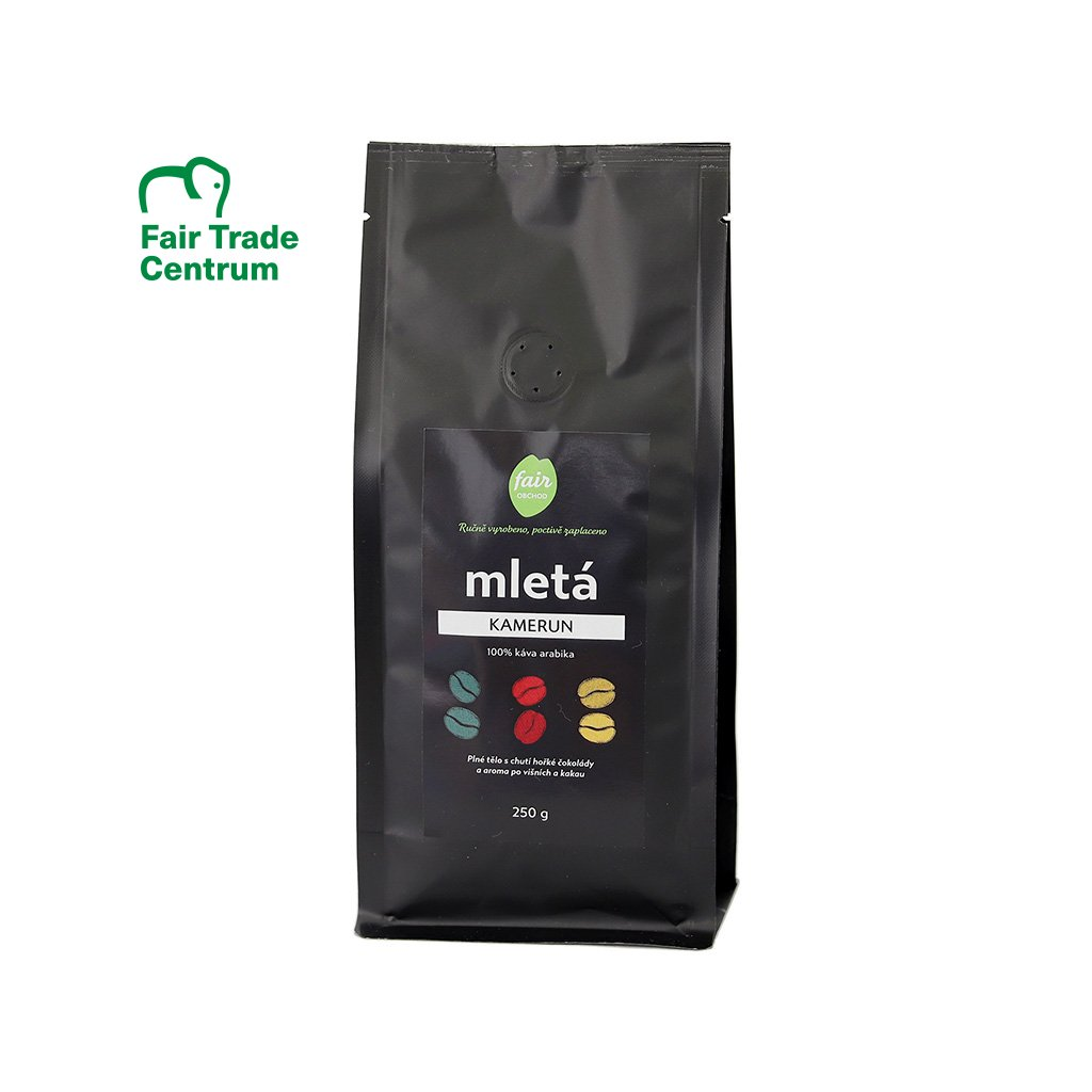 Fair trade mletá káva Kamerun, 250 g