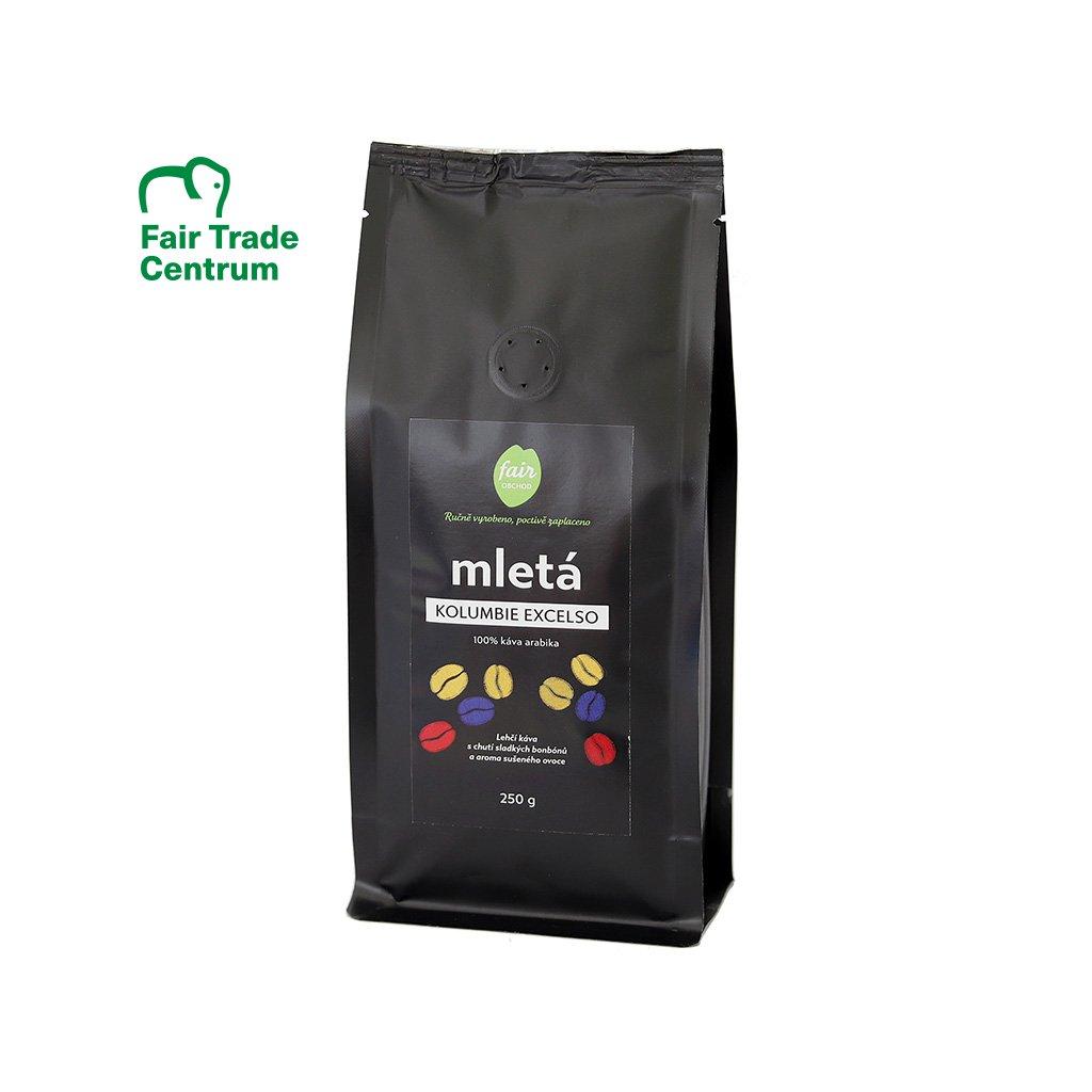 Fair trade mletá káva Kolumbie Excelso, 250 g