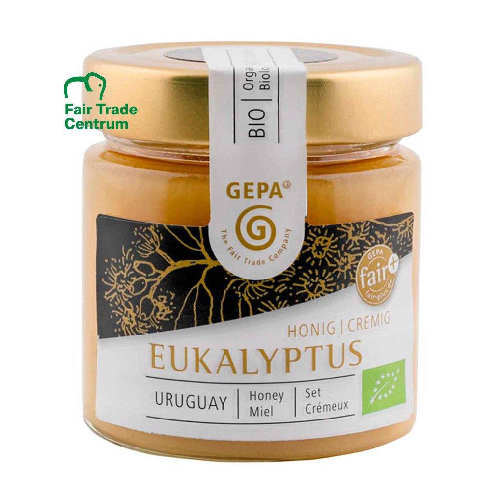 Fair trade bio květový med z eukalyptů, krémový, 250 g