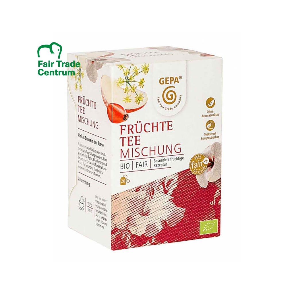 Fair trade bio ovocný čaj z Afriky, porcovaný