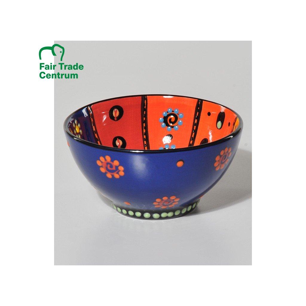 Fair trade ručně dělaná duhová miska z Jihoafrické republiky, 13 cm