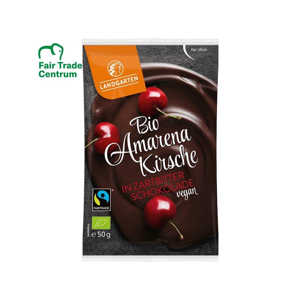 Fair trade bio sušené višně Amarena v jemně hořké čokoládě