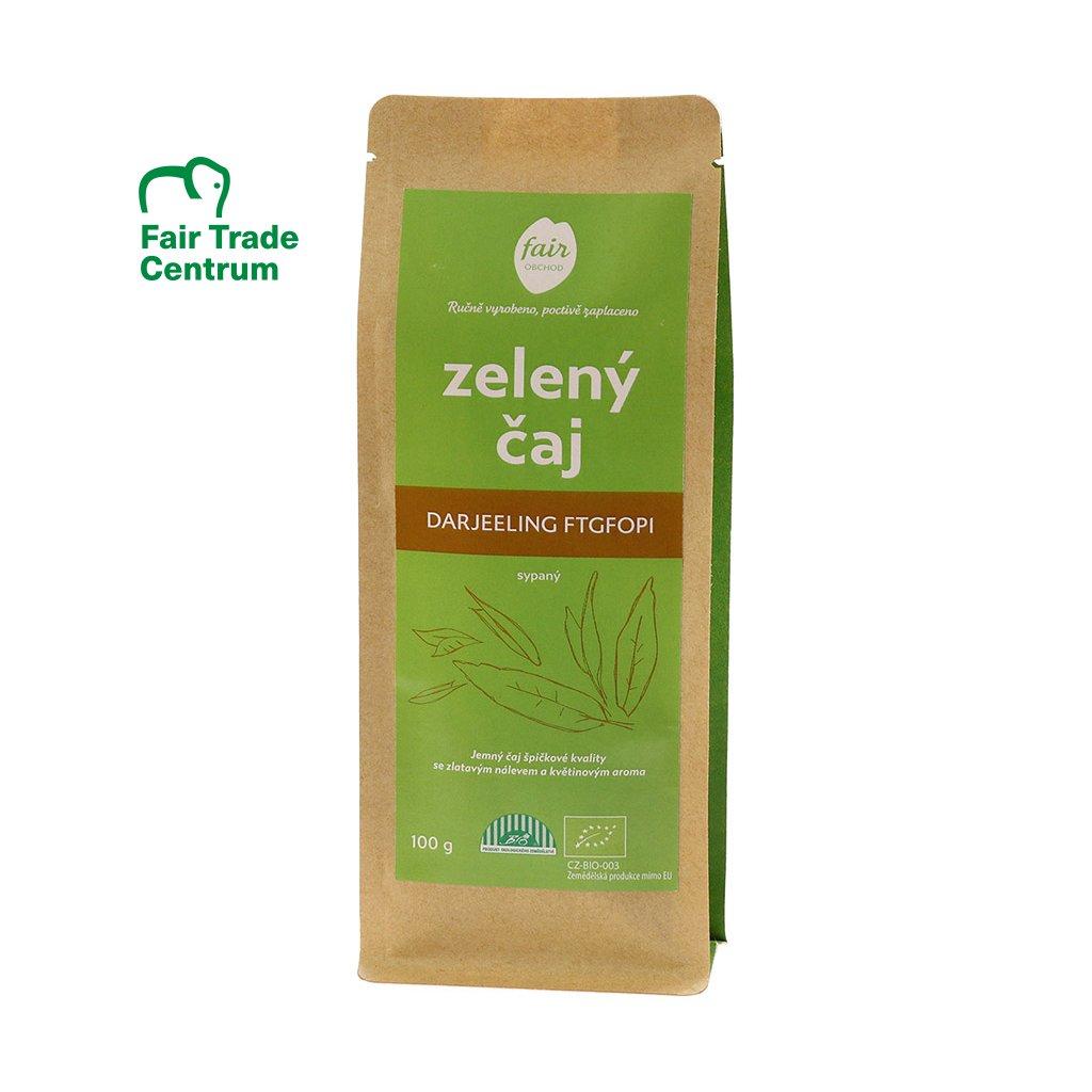 Fair trade sypaný bio zelený čaj Darjeeling FTGFOP1