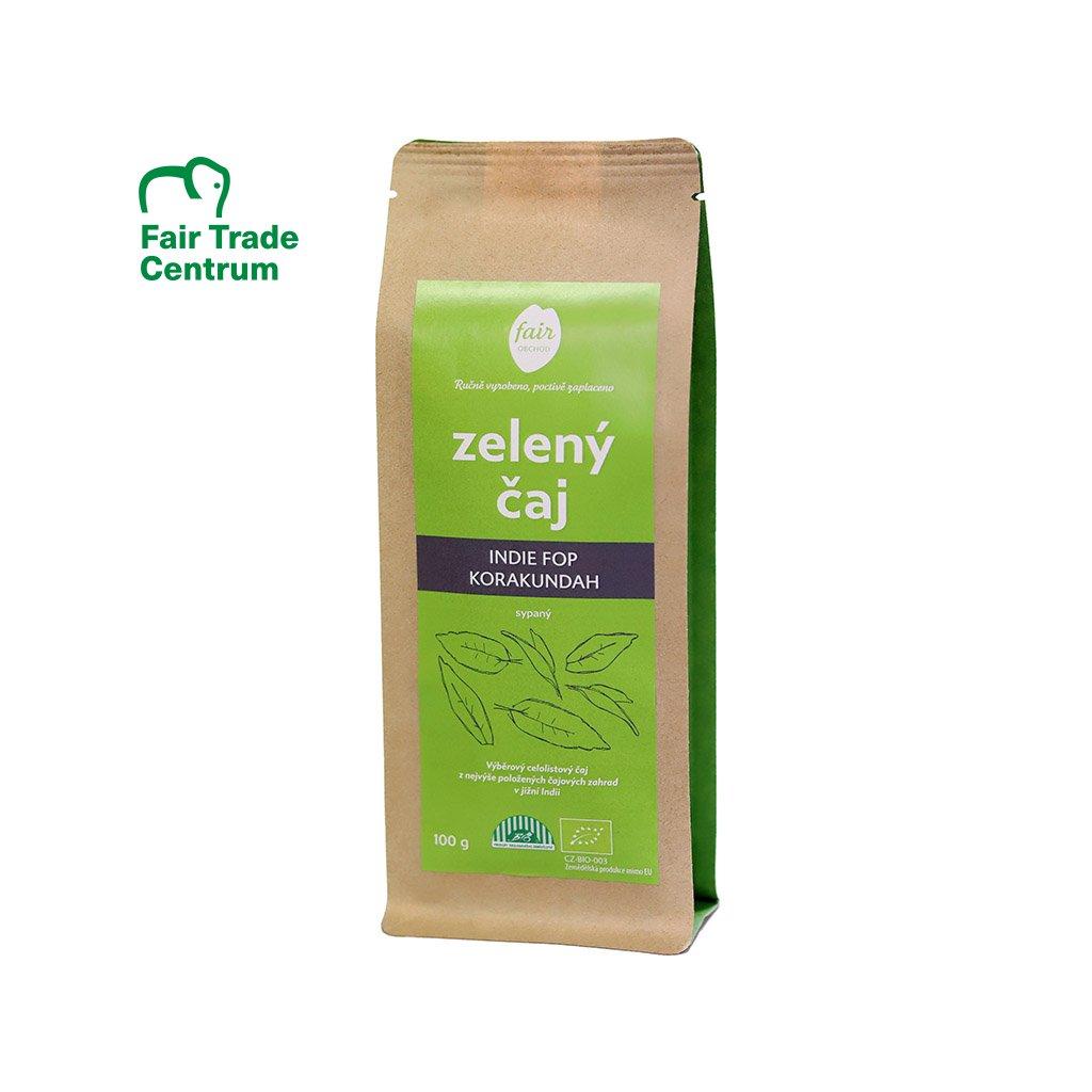 Fair trade bio zelený čaj sypaný Indie FOP Korakundah