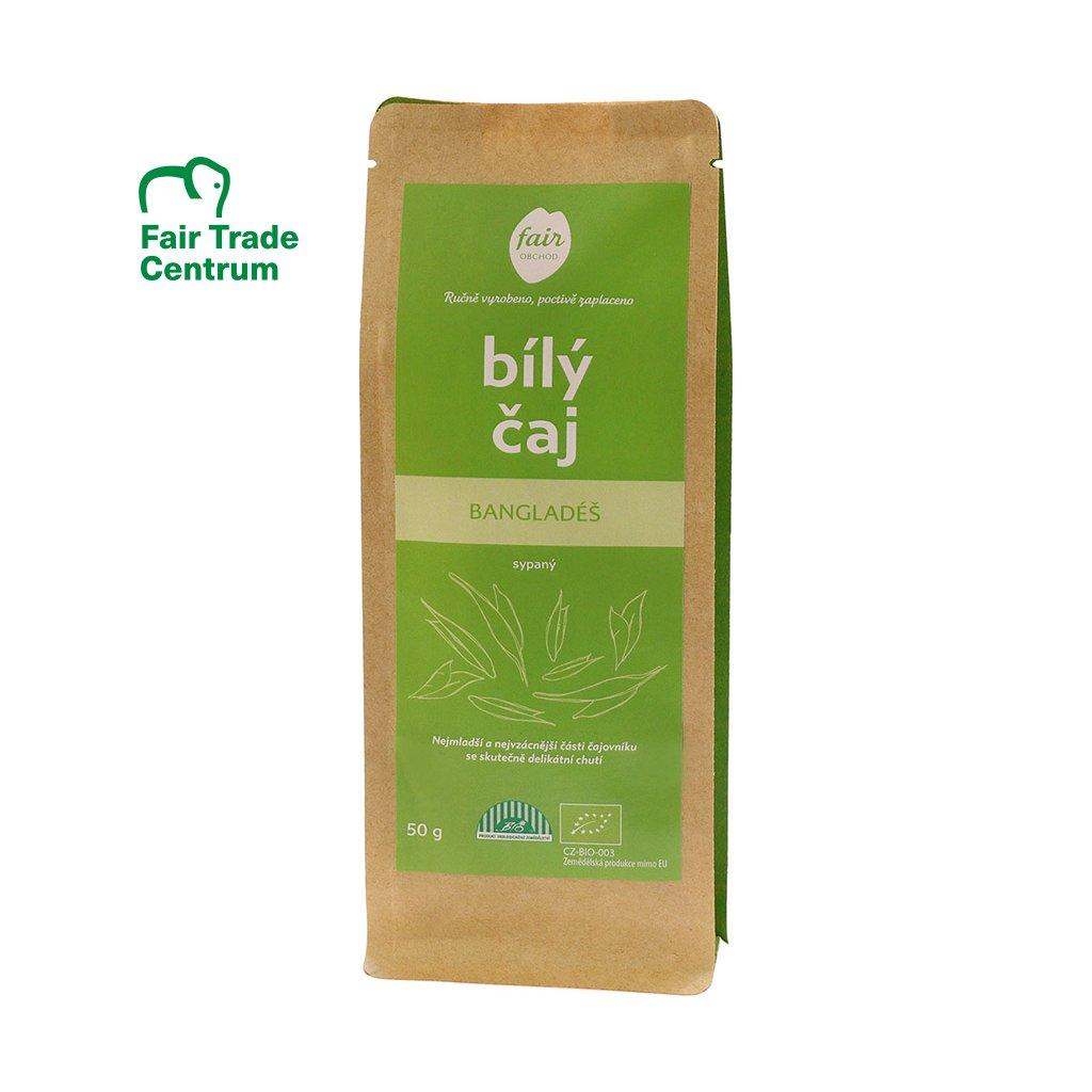 Fair trade bio bílý čaj z Bangladéše sypaný