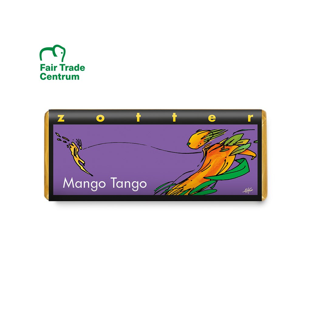 Fair trade bio hořká čokoláda Zotter Mango Tango
