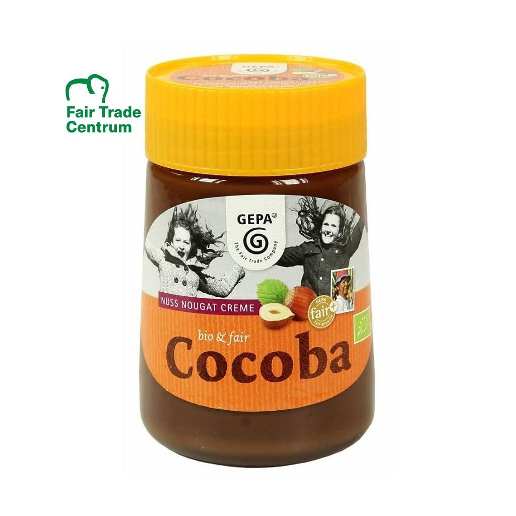 Fair trade bio nugátový krém s lískovými oříšky Cocoba