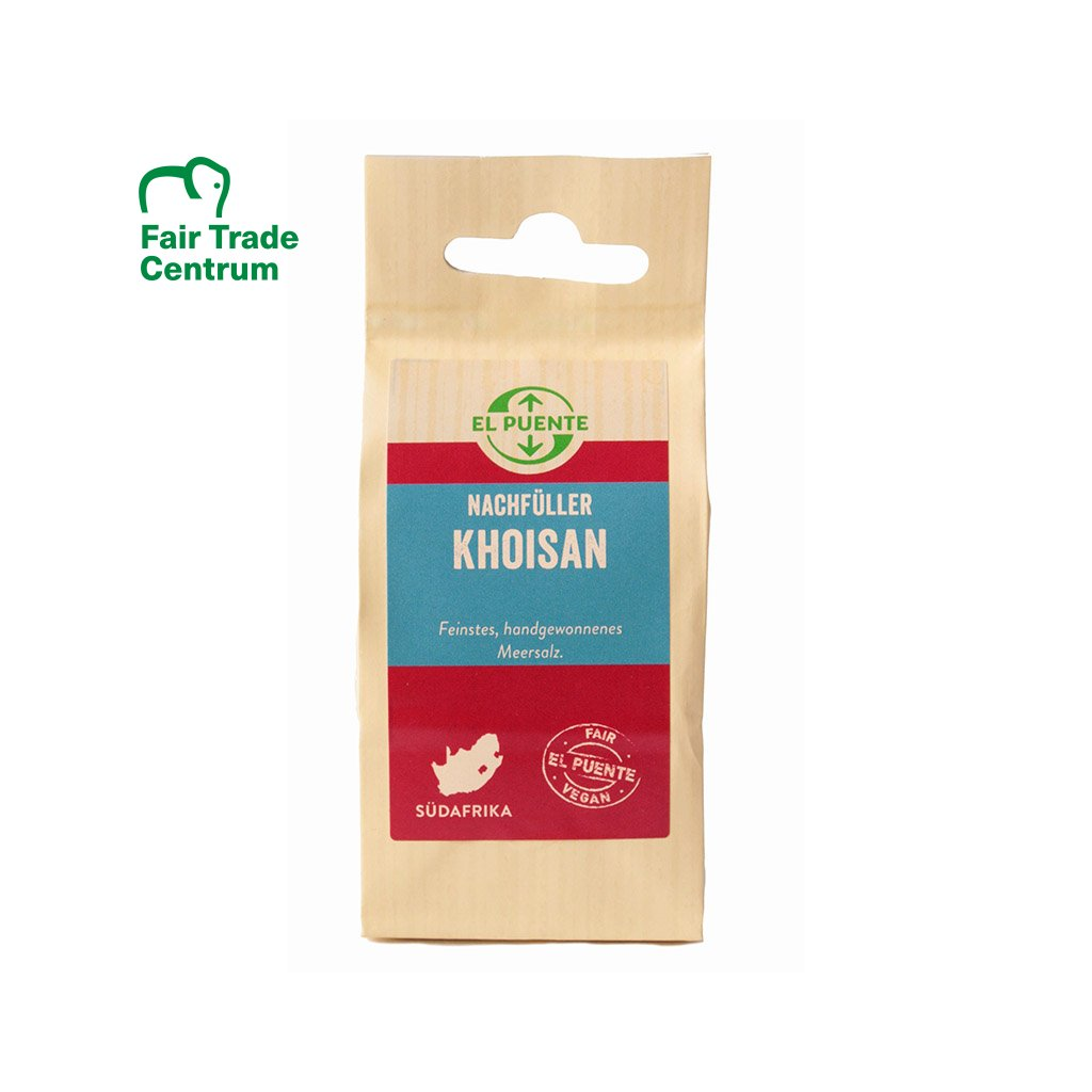 Fair trade mořská sůl Khoisan hrubá z JAR, 150 g