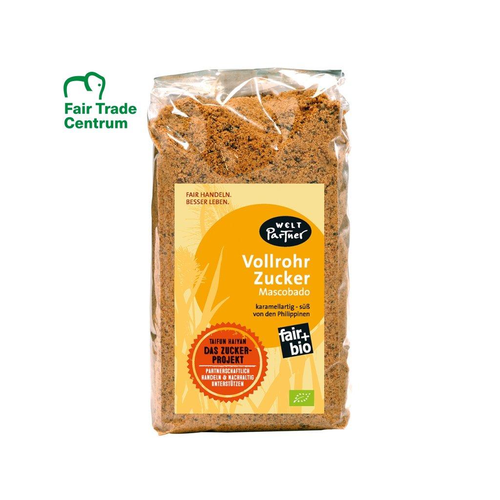 Fair trade bio nekrystalizovaný třtinový cukr Muscovado z Filipín, 1000 g