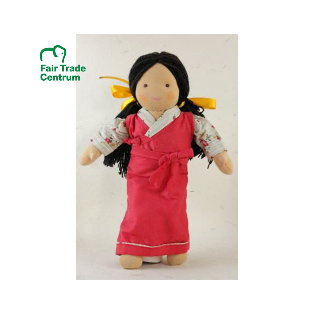 Fair trade ručně šitá látková panenka Dolls4Tibet Tenzin