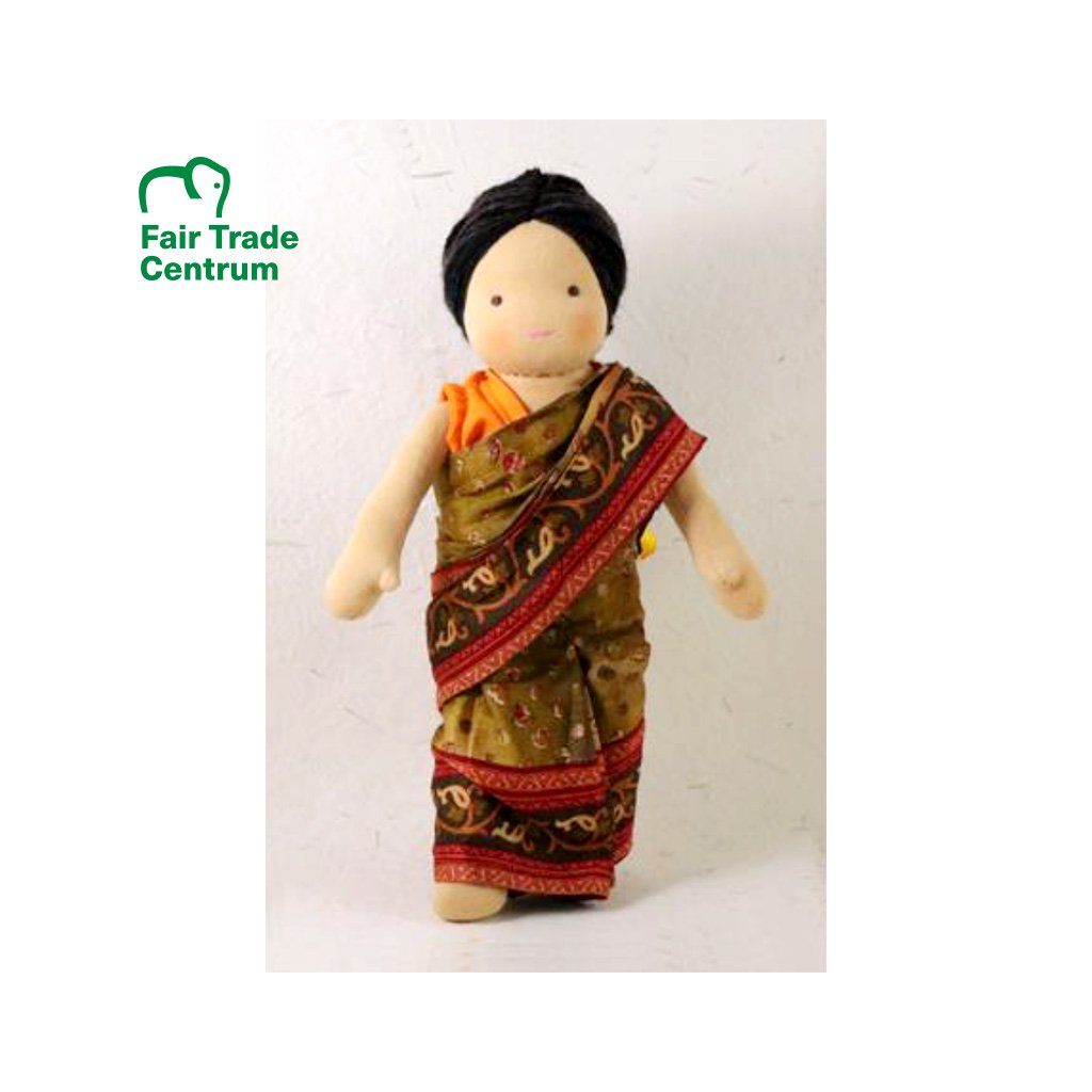 Fair trade ručně šitá látková panenka Dolls4Tibet Seeta