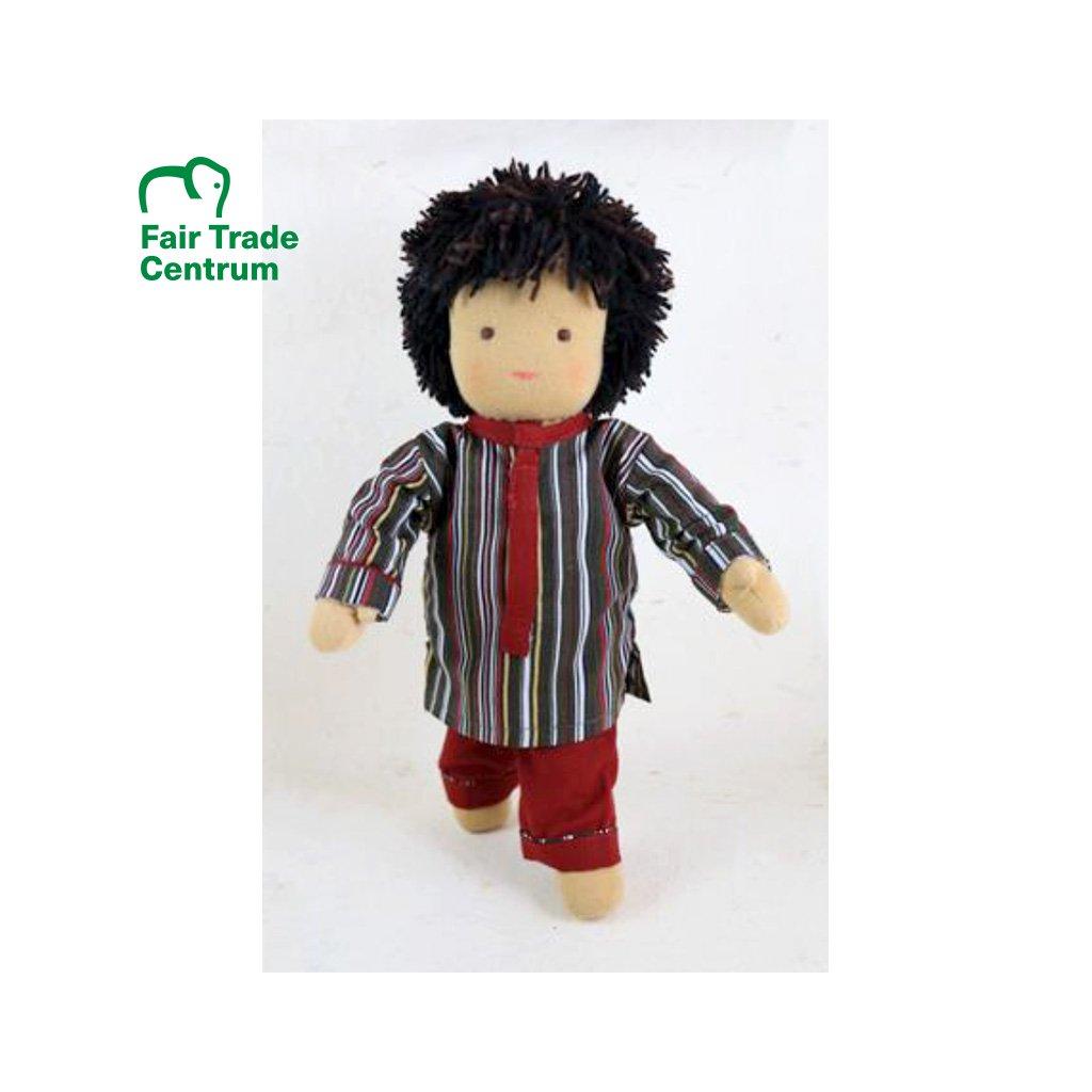 Fair trade ručně šitá hadrová panenka Dolls4Tibet Varun