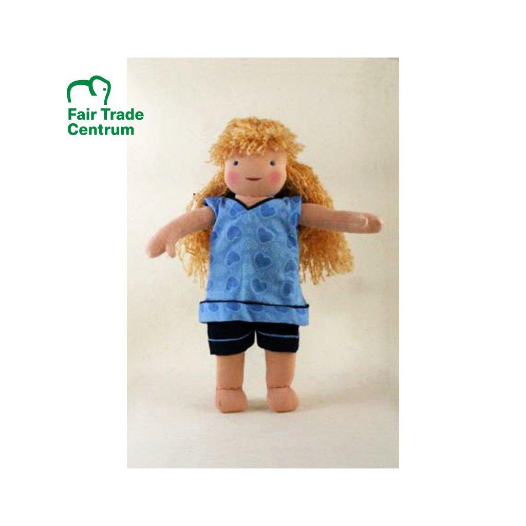 Fair trade ručně šitá hadrová panenka Dolls4Tibet Daisy