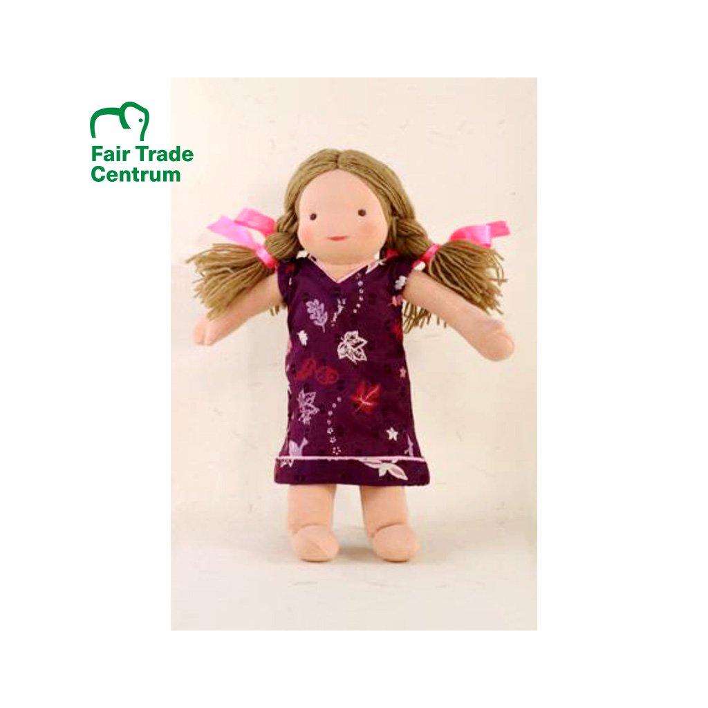Fair trade ručně šitá hadrová panenka Dolls4Tibet Lisa