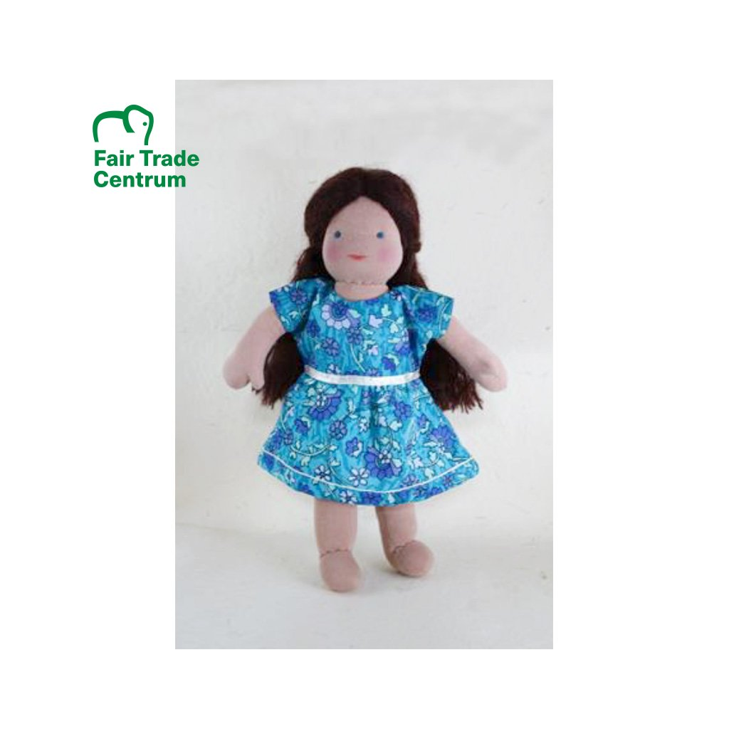 Fair trade ručně šitá hadrová panenka Dolls4Tibet Chloe