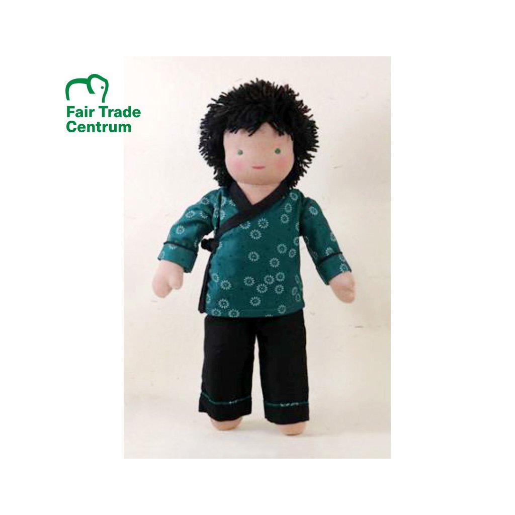 Fair trade ručně šitá látková panenka Dolls4Tibet Fin