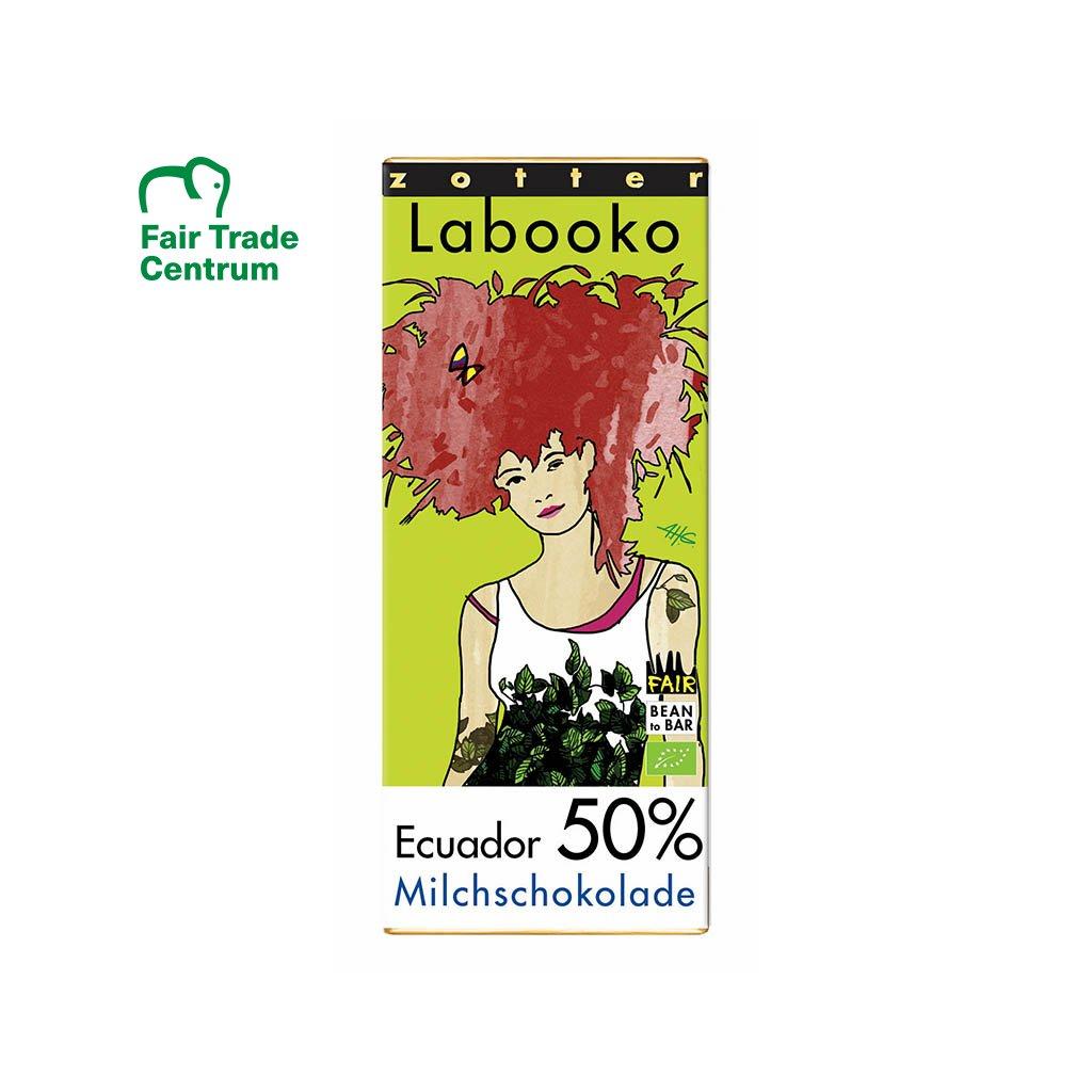 Fair trade bio mléčná čokoláda Zotter Ekvádor 50 %