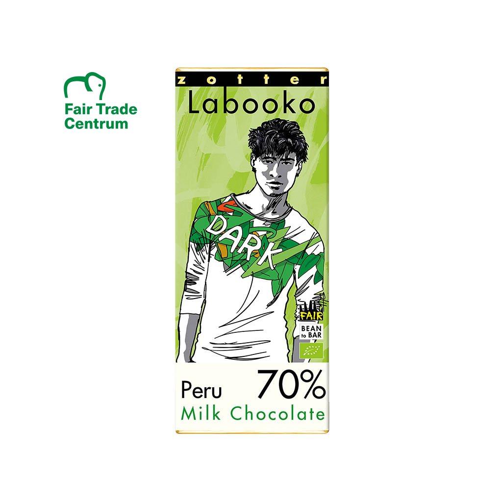 Fair trade bio mléčná čokoláda Zotter Peru 70 %