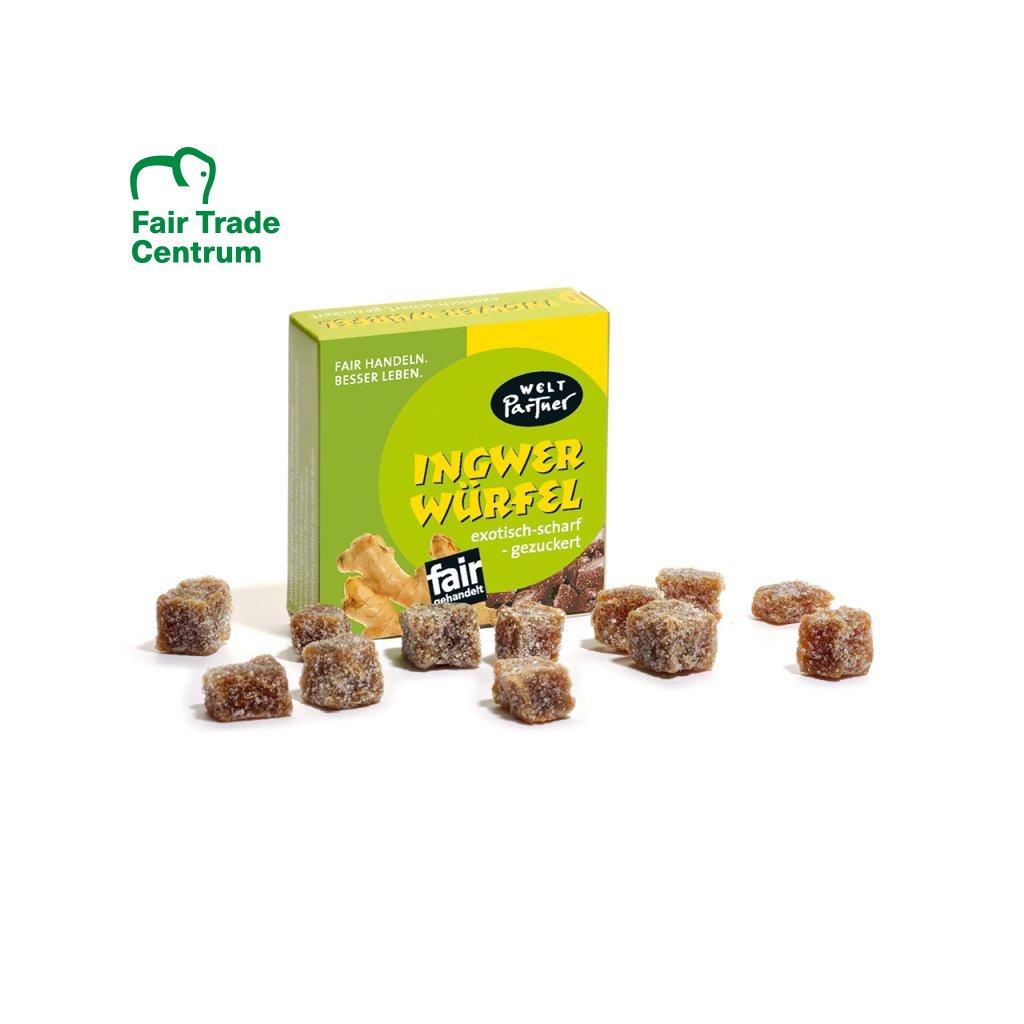 Fair trade zázvorové kostky s třtinovým cukrem
