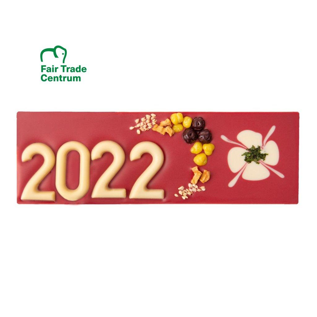 Fair trade bio novoroční malinová čokoláda Zotter 2022, 100 g
