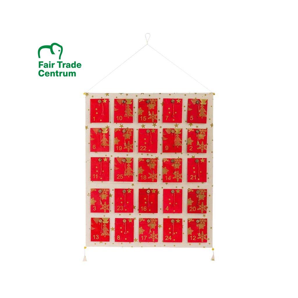 Fair trade adventní kalendář s kapsičkami z Nepálu