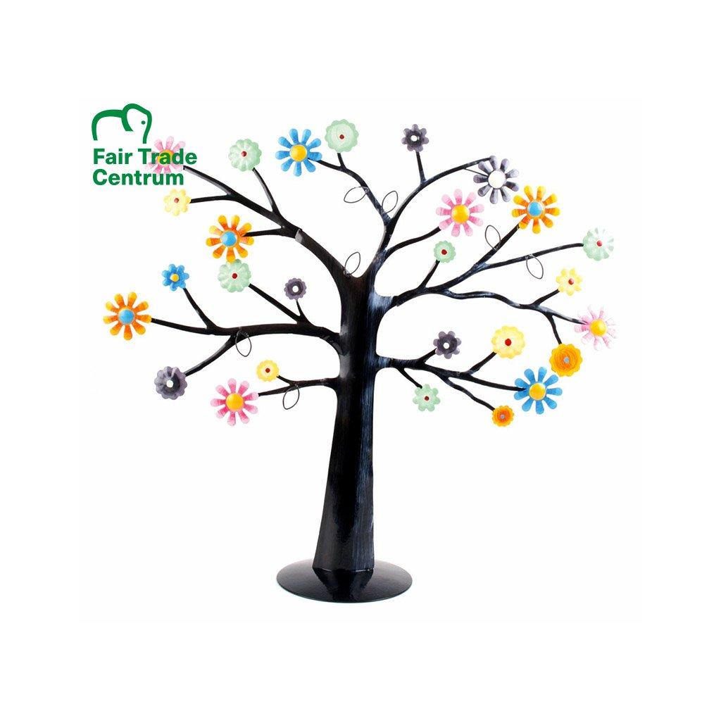 Fair trade stojan na šperky Rozkvetlý strom