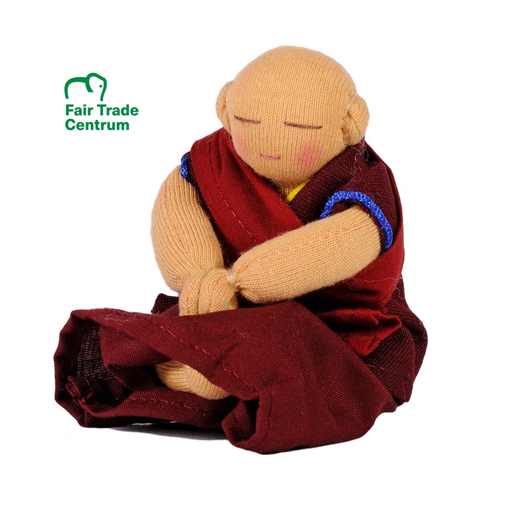 Fair trade ručně šitý tibetský budhistický mnich dolls4tibet