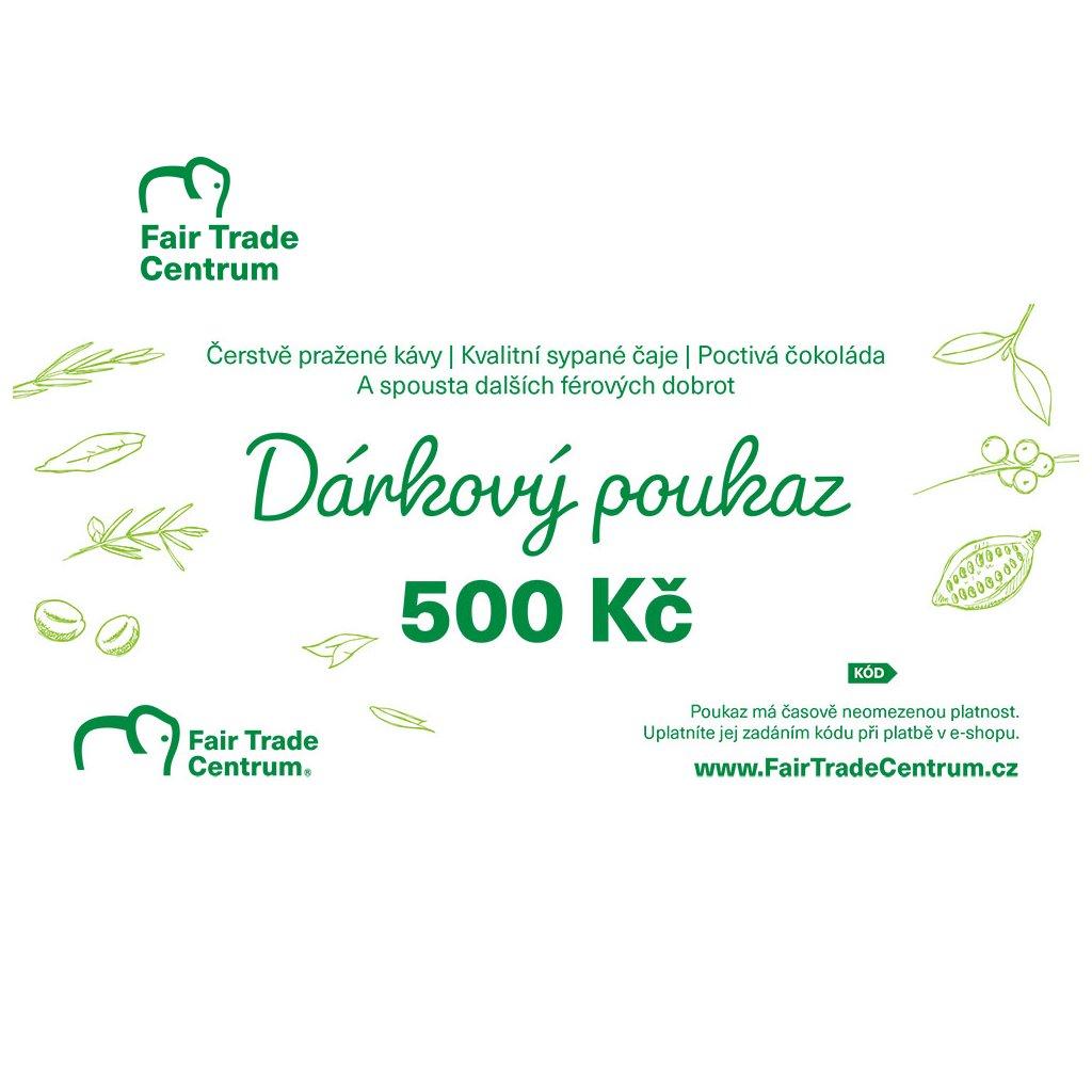Dárkový poukaz Fair Trade Centra 500 Kč tištěný