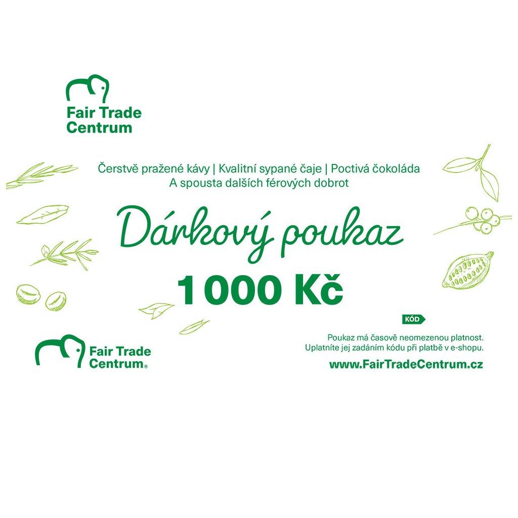 Dárkový poukaz Fair Trade Centra 1000 Kč tištěný