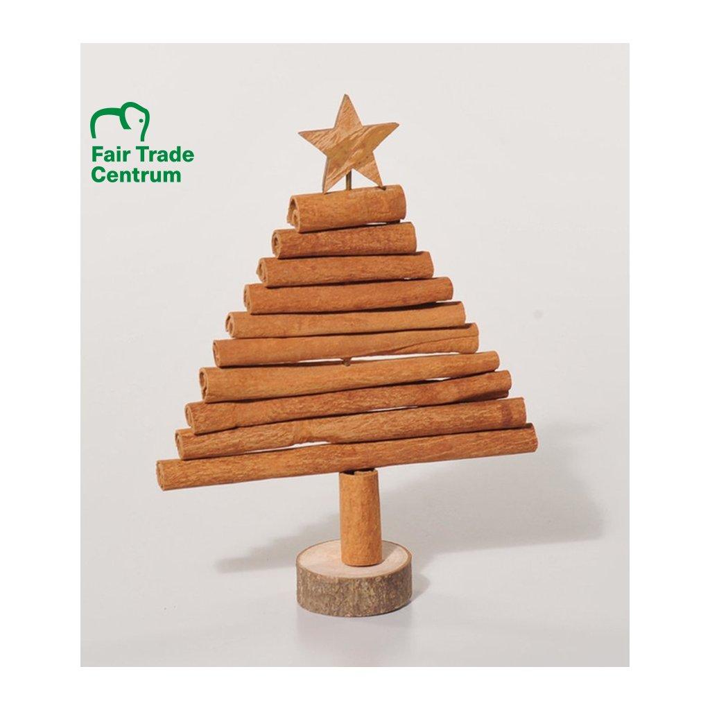 Fair trade vánoční stromek ze skořice z Vietnamu