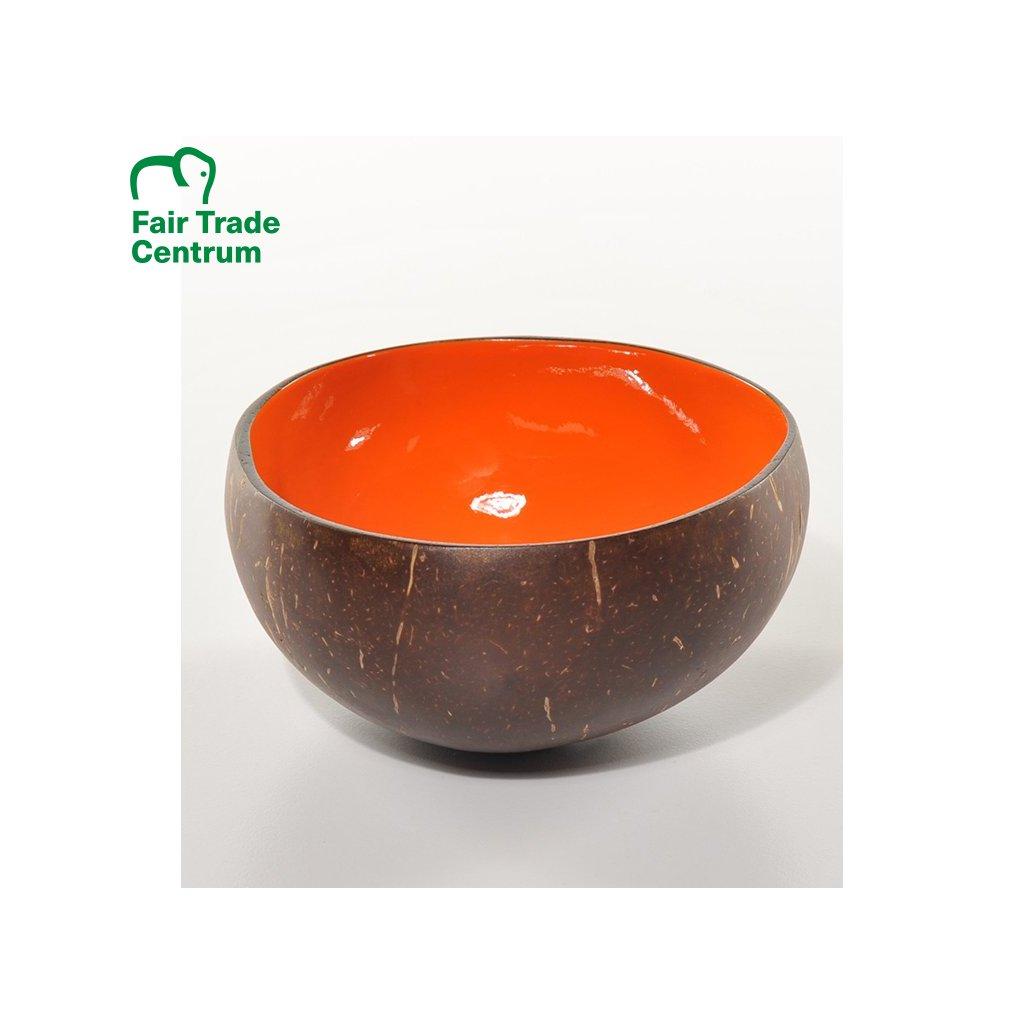 Fair trade oranžová kokosová miska z Vietnamu na 600 ml