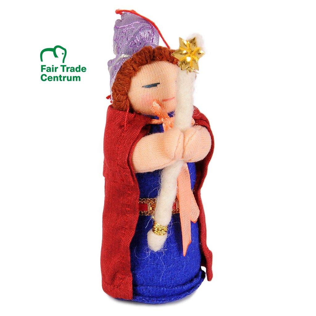 Fair trade ručně šitá hadrová panenka pohádkové dobré víly