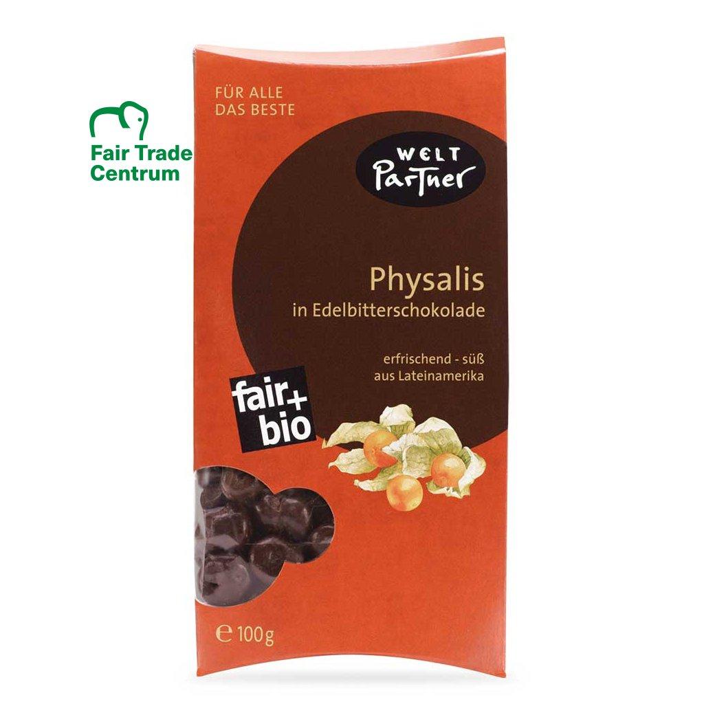 Fair trade bio mochyně v hořké čokoládě z Peru, 100 g