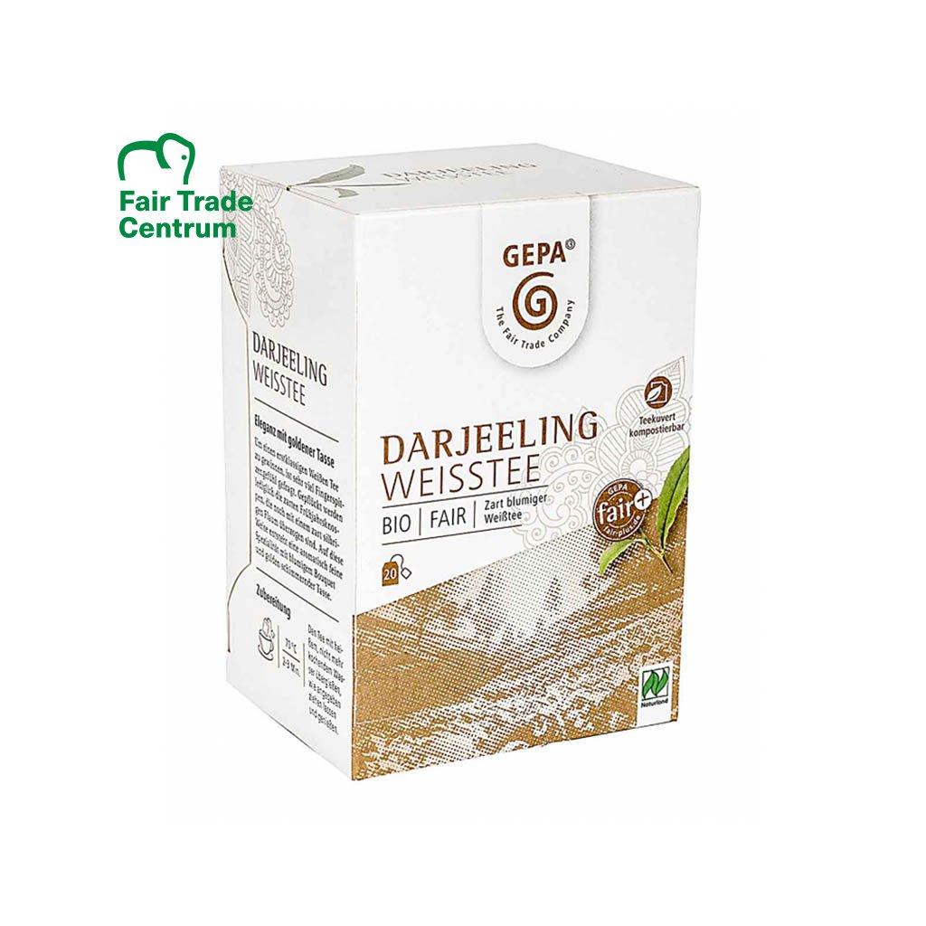 Fair trade bio bílý čaj Darjeeling sáčkovaný