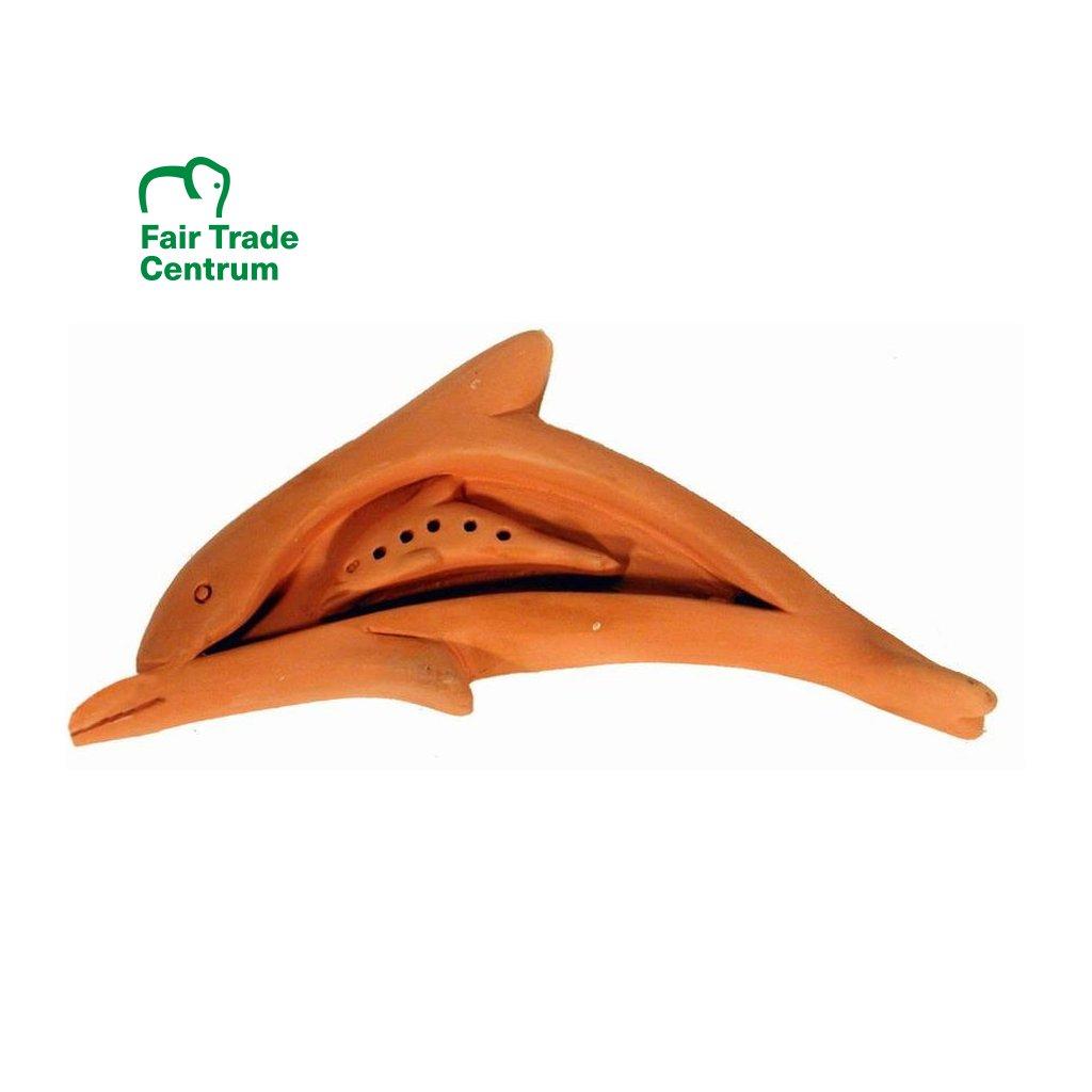 Fair Trade stojánek na vonné tyčinky Delfín z Bangladéše