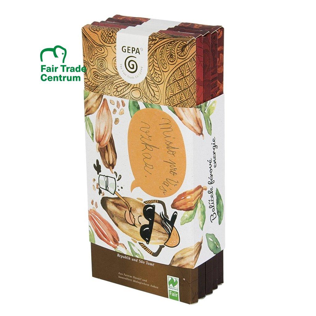 Fair trade bio dárková sada čokolád Vlastní vzkaz
