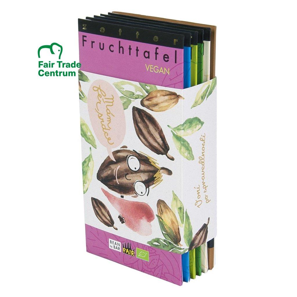Fair trade bio dárková sada ovocných čokolád Zotter