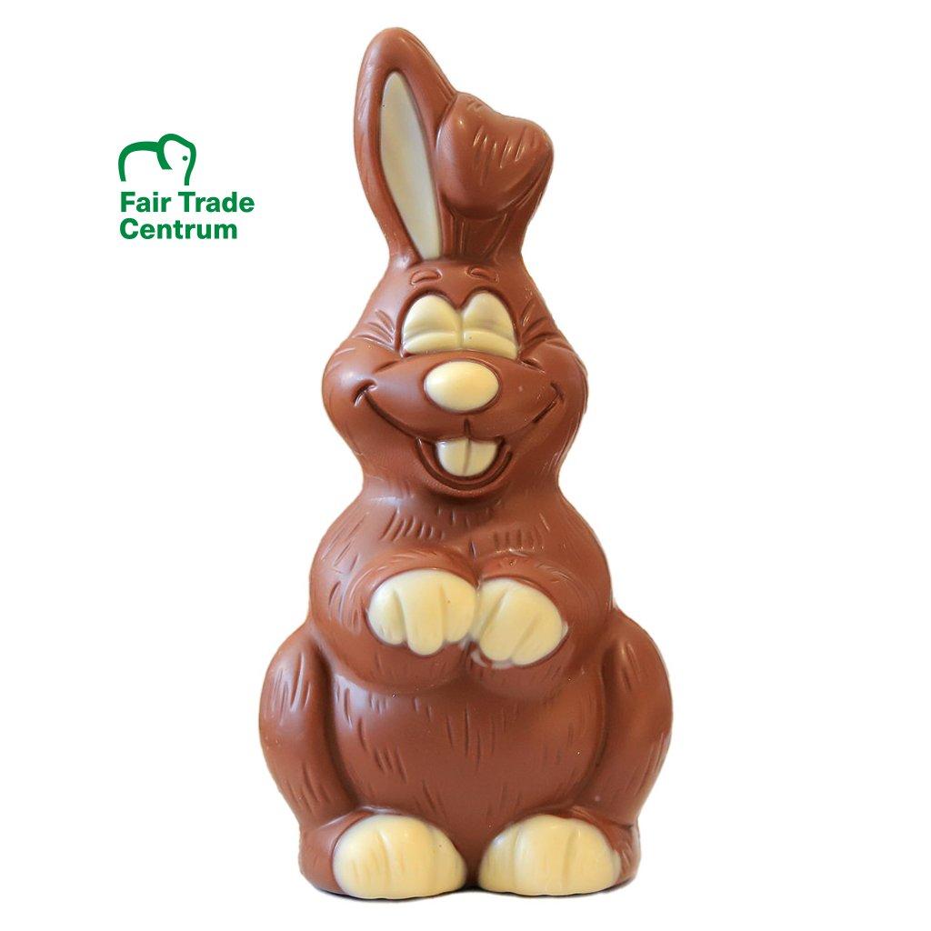 Fair trade bio mléčný čokoládový zajíček Gepa 80 g