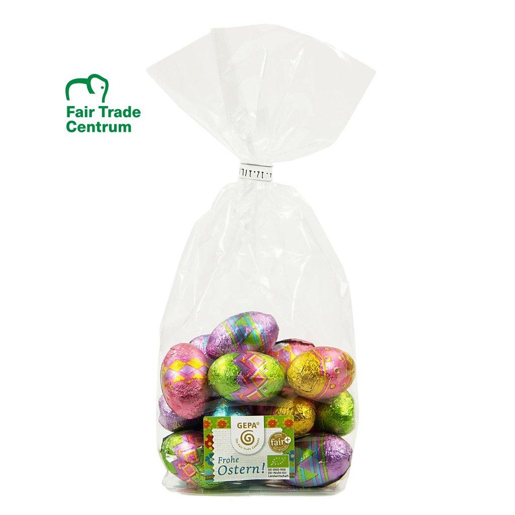Fair trade bio velikonoční vajíčka z mléčné čokolády, 33 % kakaa, 100 g