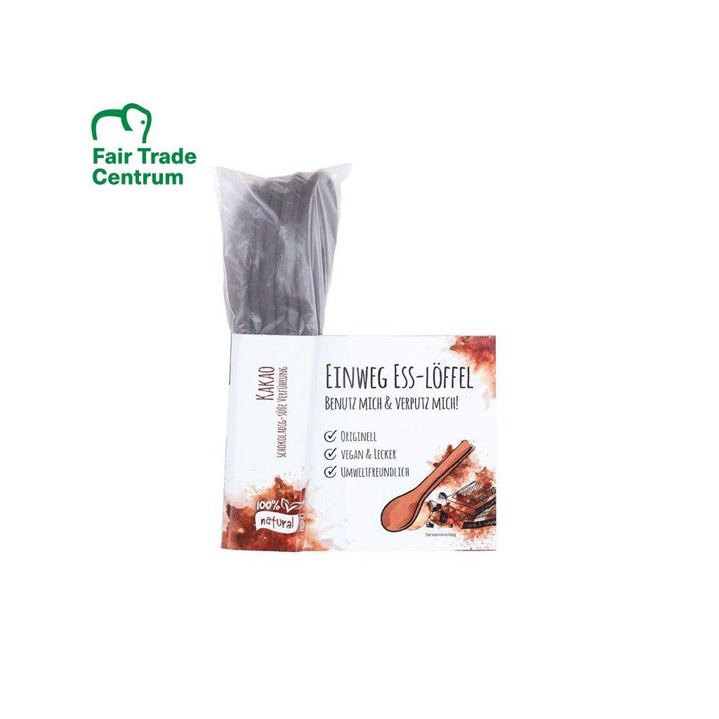 Fair trade jedlé lžičky s kakaem z Indie 6 ks
