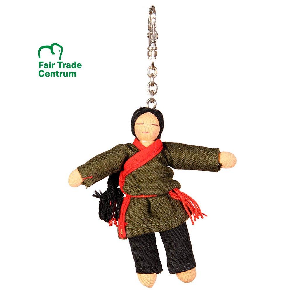 Fair trade přívěsek Hadrová panenka Tibetský chlapec dolls4tibet