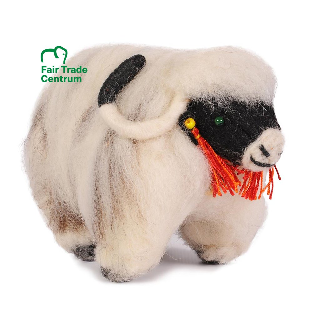 Fair trade tibetský jak dolls4tibet bílý
