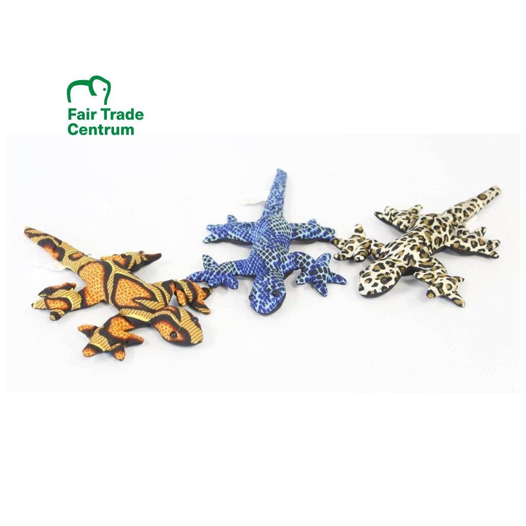 Fair trade písková ještěrka gekon hračka z Thajska, různé barvy