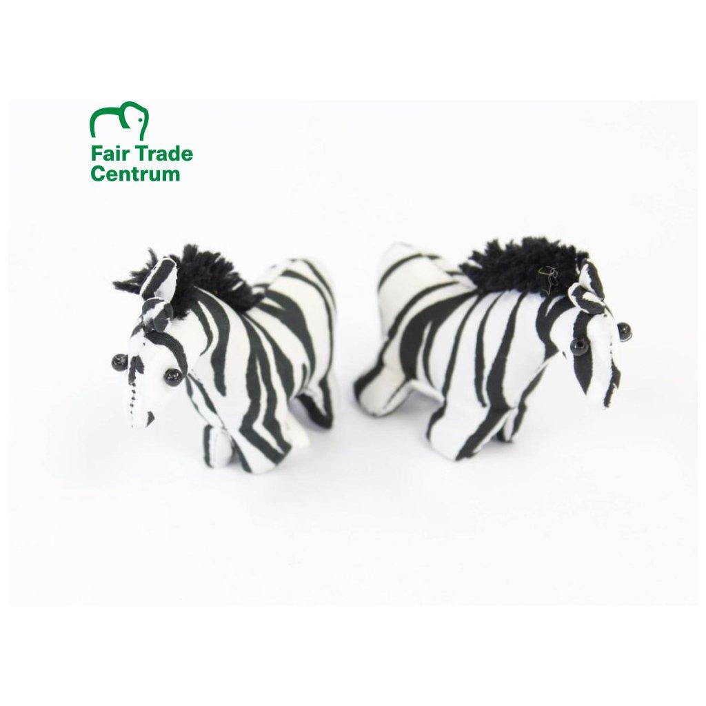 Fair trade písková zebra hračka z Thajska