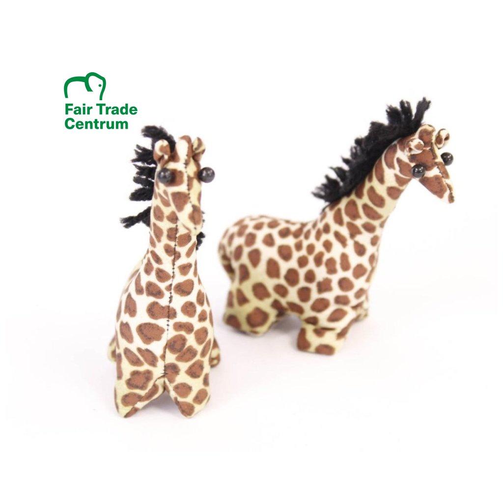 Fair trade písková žirafa hračka z Thajska