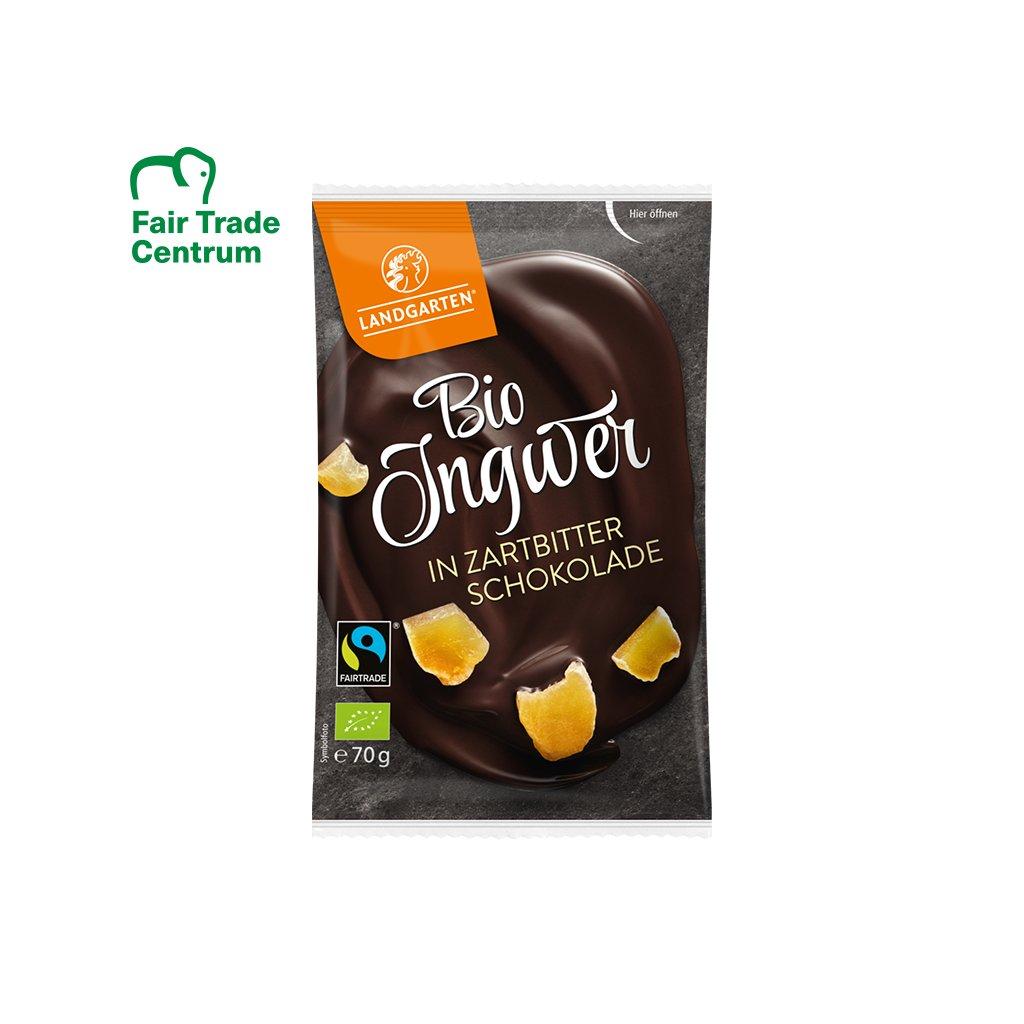 Fairtrade Bio zázvor v hořké čokoládě