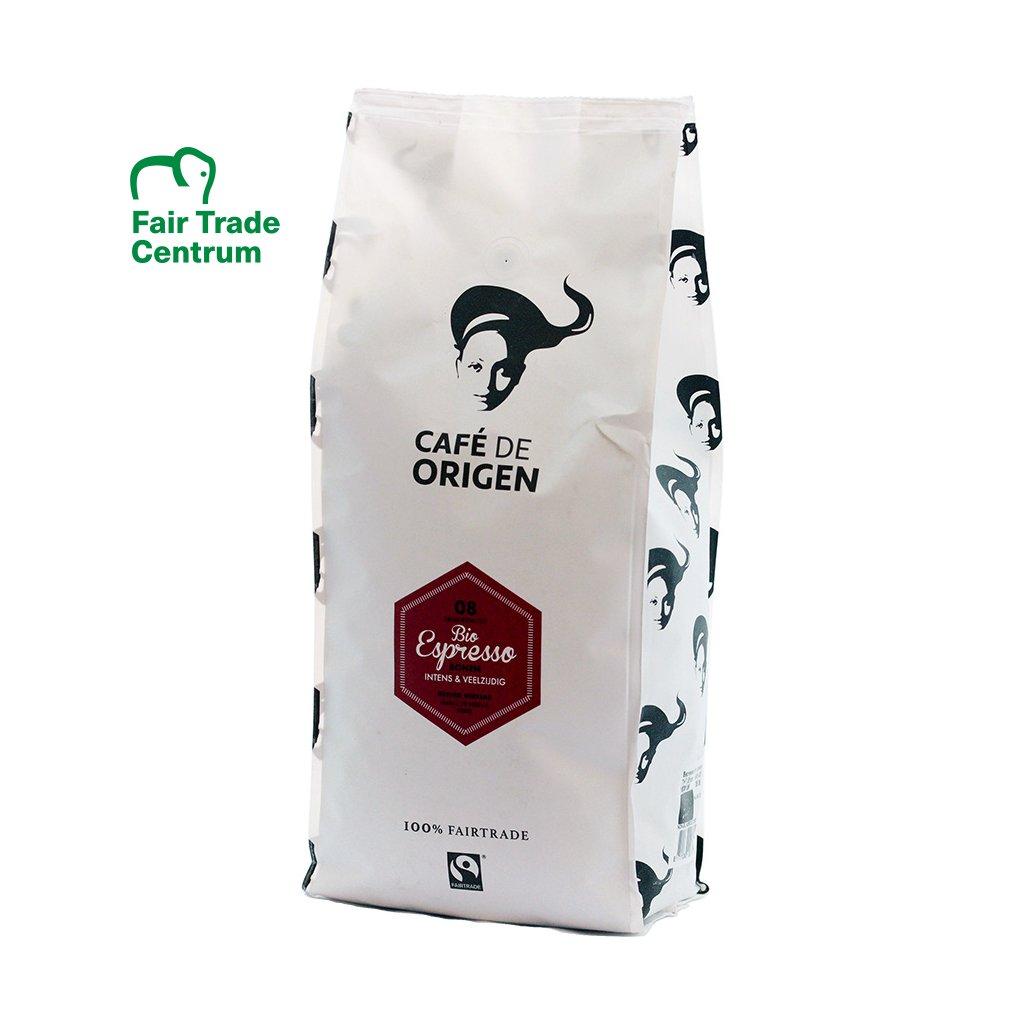 Fairtrade bio zrnková káva Espresso, 1000 g