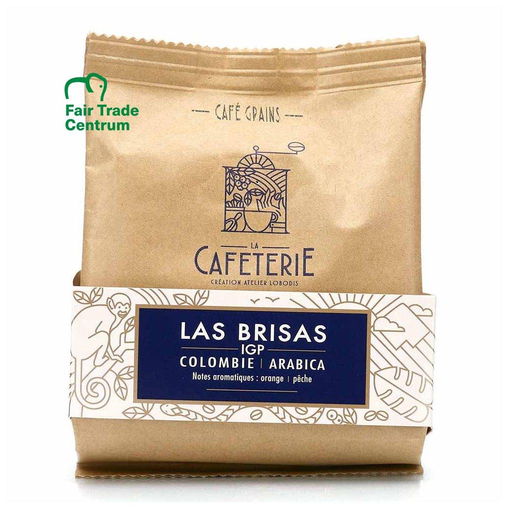 Fair trade zrnková výběrová káva Las Brisas z Kolumbie, mikrolot